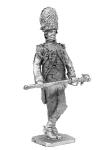 Бригадный генерал Орденер 1804 - Не крашенный оловянный солдатик. Высота 54 мм.