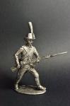 Рядовой легкой пехоты Ломбардийского легиона, 1796-97 - Не крашенный оловянный солдатик. Высота 54 мм.
