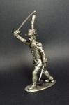Офицер Ломбардийского легиона, 1796-97 - Не крашенный оловянный солдатик. Высота 54 мм.