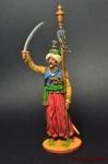 Мамелюк с бунчуком. Франция, 1806-14 - Оловянный солдатик коллекционная роспись 54 мм. Все оловянные солдатики расписываются художником вручную