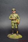 Капитан Пинско-волынского добровол. б-на - Оловянный солдатик коллекционная роспись 54 мм. Все оловянные солдатики расписываются художником вручную