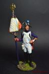 Старший сержант - орлоносец 4-го лин. плк. Франция, 1805 - Оловянный солдатик коллекционная роспись 54 мм. Все оловянные солдатики расписываются художником вручную