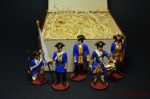 Набор оловянных солдатиков - Шведы - Набор оловянных солдатиков 54 мм в подарочной коробке
