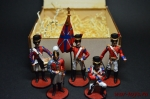 Набор оловянных солдатиков - Англичане - Набор оловянных солдатиков 54 мм в подарочной коробке