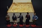 Набор оловянных солдатиков - Немецкие офицеры - Набор оловянных солдатиков 54 мм в подарочной коробке