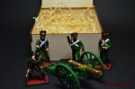 Набор оловянных солдатиков - Русский артиллерийский расчет 1812 - Набор оловянных солдатиков 54 мм в подарочной коробке