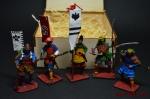 Набор оловянных солдатиков - Самураи - Набор оловянных солдатиков 54 мм в подарочной коробке