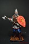 Русский воин с топором, 14 век - Оловянный солдатик коллекционная роспись 54 мм. Все оловянные солдатики расписываются художником вручную