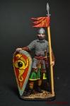 Нормандский рыцарь, 2-я пол. 11 века - Оловянный солдатик коллекционная роспись 54 мм. Все оловянные солдатики расписываются художником вручную