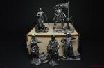 Набор оловянных солдатиков - Пираты - Набор оловянных солдатиков 5 шт. 54 мм в подарочной коробке