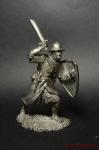 Кнехт Тевтонского ордена, 13 век. - Не крашенный оловянный солдатик. Высота 54 мм.