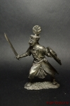 Рыцарь – вассал Дерптского епископа, 13 век. - Не крашенный оловянный солдатик. Высота 54 мм
