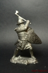 Русский воин, 14 век - Не крашенный оловянный солдатик. Высота 54 мм