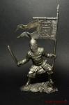 Русский знаменосец, 14 век - Не крашенный оловянный солдатик. Высота 54 мм