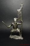 Золотоордынский бунчуконосец, 14 век - Не крашенный оловянный солдатик. Высота 54 мм