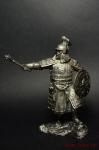 Знатный золотоордынский воин, 14 век - Не крашенный оловянный солдатик. Высота 54 мм