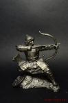 Золотоордынский лучник, 14 век - Не крашенный оловянный солдатик. Высота 54 мм