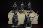 Набор оловянных солдатиков - Индейцы - Набор оловянных солдатиков 5 шт. 54 мм в подарочной коробке