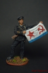 Старшина 1-й статьи с флагом ВМФ, 1941-43 гг. СССР