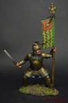 Золотоордынский бунчуконосец, 14 век - Оловянный солдатик коллекционная роспись 54 мм. Все оловянные солдатики расписываются художником вручную