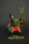Карфагенский знаменосец, 3-2 вв до н. э. - Оловянный солдатик коллекционная роспись 54 мм. Все оловянные солдатики расписываются художником вручную