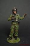 Офицер танковых частей Вермахта (Германия), 1941-45 гг. - Оловянный солдатик коллекционная роспись 54 мм. Все оловянные солдатики расписываются художником вручную