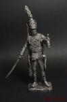 Обер офицер Лейб гвардии гусарского полка в накидке барс 1809-18 - Не крашенный оловянный солдатик. Высота 54 мм