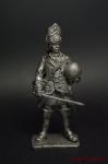 Конный гренадер 1709 год (с арбузом) - Не крашенный оловянный солдатик. Высота 54 мм