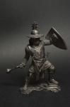 Германский рыцарь, 12-13 вв. - Не крашенный оловянный солдатик. Высота 54 мм