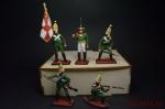 Набор оловянных солдатиков Павловцы в подарочной коробке - Набор оловянных солдатиков 5 шт. Высота солдатиков 54 мм.
