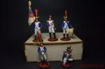 Набор оловянных солдатиков - Наполеон в под коробке - Набор оловянных солдатиков 5 шт. Высота солдатиков 54 мм.