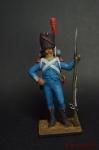 Карабинер 2-го полка (Айзенбург) 1806 - Оловянный солдатик коллекционная роспись 54 мм. Все оловянные солдатики расписываются художником вручную