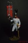 Эстандарт-юнкер Кавалергардского полка со штандартом. 1805-08