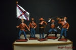 Набор оловянных солдатиков - Гражданская война в под коробке - Набор оловянных солдатиков 5 шт. Высота солдатиков 54 мм.