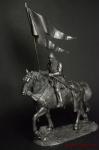 Конный рыцарь - Не крашенный оловянный всадник. Масштаб 1:32. Высота всадника 54 мм