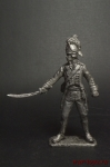 Офицер шеволежеров 1803 год. Княжество Хессен-Дармштадт - Оловянный солдатик. Чернение. Высота солдатика 54 мм