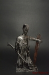 Запорожский казак, Россия 18 век - Оловянный солдатик. Чернение. Высота солдатика 54 мм