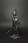 Обер-офицер гренадер 3 Швейц-го плк. Франция 1812 - Оловянный солдатик. Чернение. Высота солдатика 54 мм