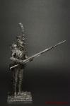 Унтер-офицер гренадер п. линейной пехоты Франция 1812 - Оловянный солдатик. Чернение. Высота солдатика 54 мм