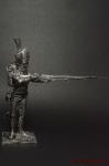 Унтер-офицер гренадер 3 Швейцарского п. Франция 1812 - Оловянный солдатик. Чернение. Высота солдатика 54 мм
