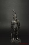 Обер-офицер гренадер полка линейной пехоты Франция 1812 - Оловянный солдатик. Чернение. Высота солдатика 54 мм