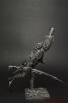 Унтер-офицер Пеших гренадер Стар Имп гвардии Франция 1812 - Оловянный солдатик. Чернение. Высота солдатика 54 мм