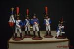 Набор оловянных солдатиков Наполеон в под коробке - Набор оловянных солдатиков 5 шт. Высота солдатиков 54 мм.