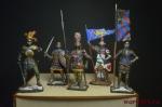 Набор оловянных солдатиков - Рыцари в под коробке - Набор оловянных солдатиков 5 шт. Высота солдатиков 54 мм.