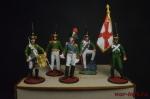 Набор оловянных солдатиков - Русская армия 1812 в под коробке - Набор оловянных солдатиков 5 шт. Высота солдатиков 54 мм.