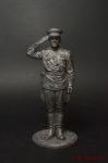 Гвардии капитан Красной Армии, 1943-45 гг. СССР - Оловянный солдатик. Чернение. Высота солдатика 54 мм