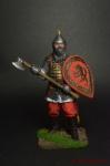 Русский воин с топором, 14 век