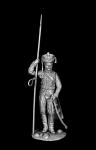 Рядовой армейских гусарских полков, Россия 1812-14 гг. - Оловянный солдатик, белый металл (набор для сборки из 8 деталей). Размер 54 мм (1:30)