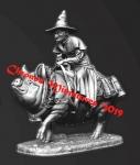 Миры Фэнтези: Причуда - Оловянный солдатик, белый металл (набор для сборки из 12 деталей). Размер 54 мм (1:30)