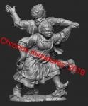 Средневековые танцоры - Фигурка, смола (набор для сборки из 10 деталей). Размер 54 мм (1:30)